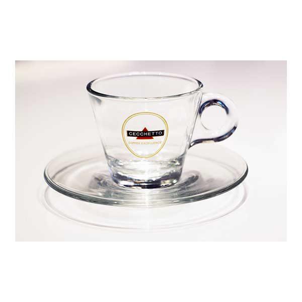 Espresso Glas mit Unterteller