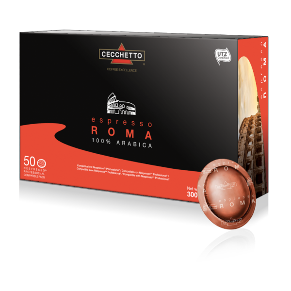 Schachtel 50 Espresso Roma Pads